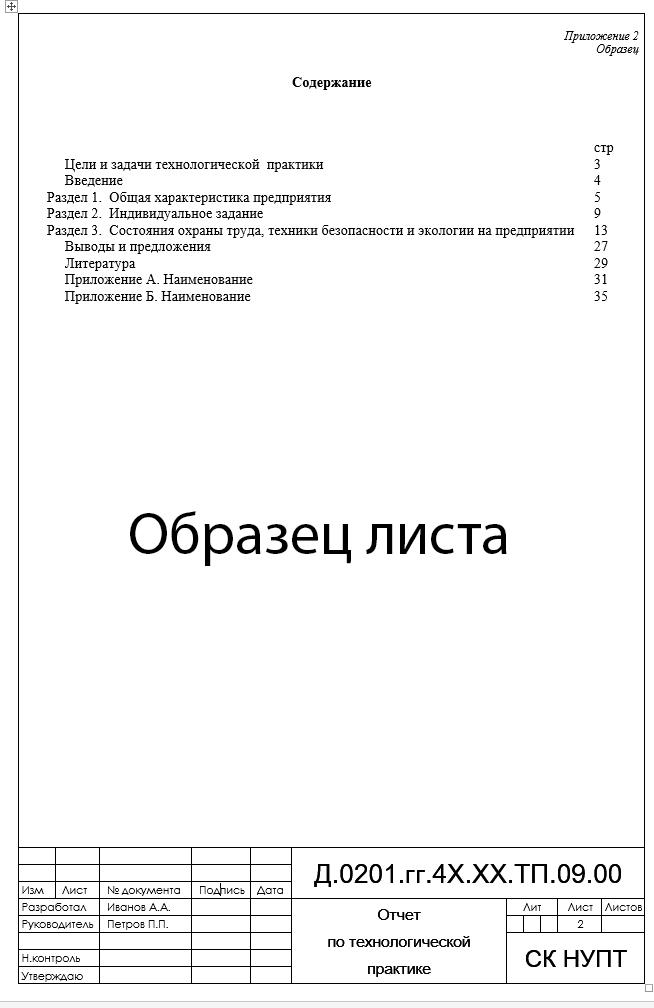 Рамка для отчета по практике Рамка оформления содержания отчета по практике